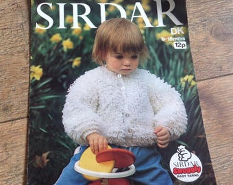 Vintage Knitting Pattern Little Girls Cardigan, vintage Loopy Baby cardigan