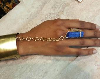 Lapis Kemet goddess Bracelet