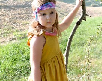 SOLID COLOR TUNIC - Toddler, girls, kids dress. Wine, Mustard, Green, Pink, Black, Spice