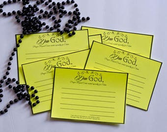 Dear God - Personalized Prayer Request Cards