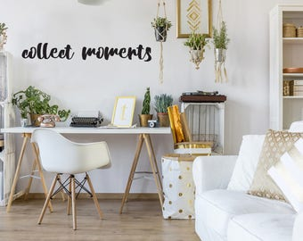 Collect Moments Style Decal 5x36 saying Chunky Script Decor Vinyl Wall Decal Graphic