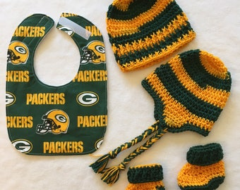 Personalized Green Bay Packers Baby Blanket Toddler Custom