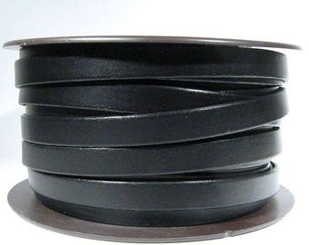 Summer Sale - 25% off 10mm Flat Leather - Black - 10F-1 - Choose Your Length