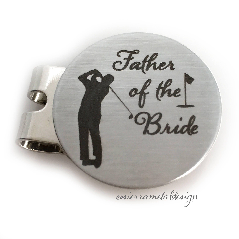 vater der braut geschenk golf ball marker vater der braut. Black Bedroom Furniture Sets. Home Design Ideas