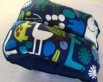 3d Blue zoo print nursing pillow/ arm pillow