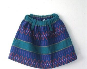 Spring SALE Vintage Children's woven skirt / Boho Hippie girls skirt