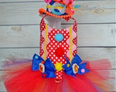 Dog Costume - Halloween - Clown - Tutu Harness Dog Dress - Pet Costume - Small Dog Costume - Large Dog Costume - Cat Costume