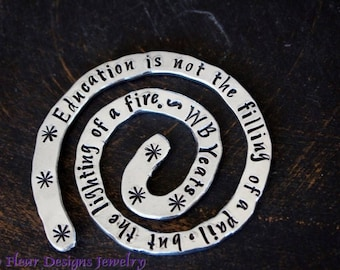 Education is the Lighting of a Fire- Quoted Bookmark, WB Yeats Quoted Bookmark, Custom Bookmark