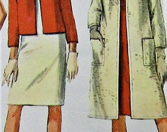 Vintage Dress and Coat Sewing Pattern Simplicity 6743 Size 14