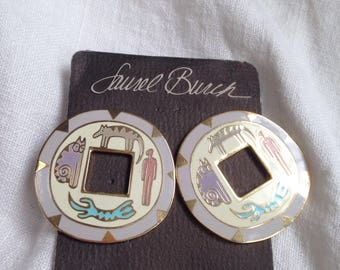 "Laurel Burch ""Amulet"" Earrings on Original Card"