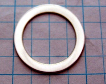 One inch 22ga Sterling Silver Stamping WASHER Blanks Disc Jewlery Supplies 1 inch Round Circle 3/4 inch hole 22 gauge SMOOTH Quality