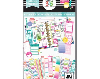 Fill In Productivity Create 365 Happy Planner Sticker Value Pack (540/Pkg) Me & My Big Ideas (PPSV-53-3048)