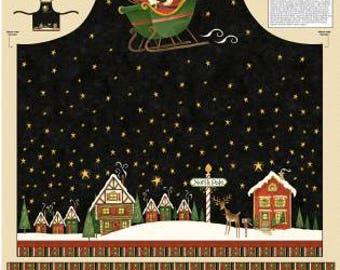 Santa's Big Night Apron Panel 67554-935 Debbie Mumm Christmas Apron