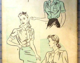 Advance 1966 - Sewing Pattern - 1930s Ladies Blouses