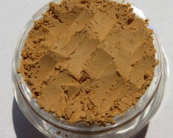 Mustard Brown Mineral Eyeshadow   Matte Dark Yellow Eye Shadow   Cruelty-Free   Vegan Loose Pigments Eye Makeup - Dutch