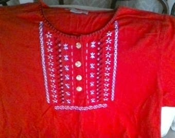 Embrodered Capacity Knits Shirt