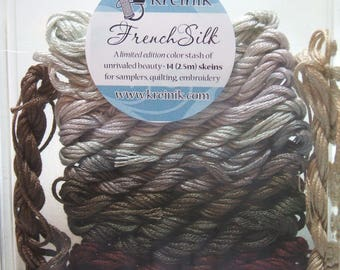 Kreinik French Silk Embroidery Thread Floss Neutral Collection B4202