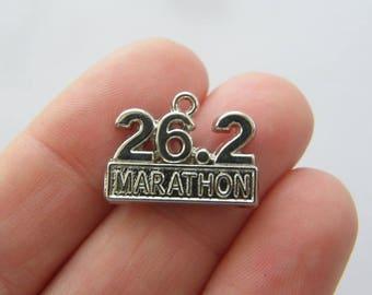 4 Marathon 26.2 charms silver tone SP232