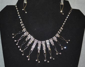 Bridal jewelry set, Necklace and  Earring, Crystals, Fashion Jewelry Wedding Set