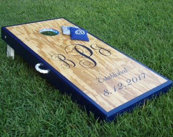 ACA American Made Handmade Deluxe Custom Wedding/Event Cornhole Board Set