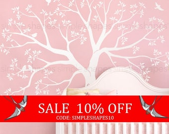 Summer Sale - Organic giant family Tree Wall Decal Tree Wall Decal Sticker