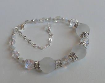 Gorgeous Frosted Crystal Bridal Bracelet