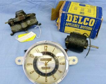 Buick Super 1946-1948 Parts - Windshield wiper motor, Clock, Heater/Defroster blower motor
