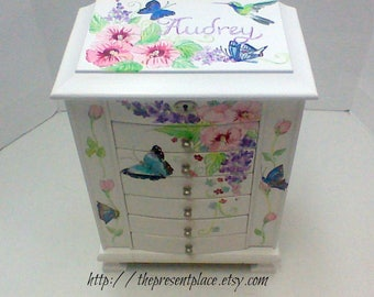 Custom order for Diona Teh one extra large jewelry box