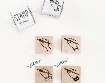 New- KNOOP Original Rubber Stamps - Writing Hand for journaling, techo planner deco, packaging, card making