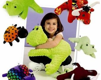 Fleece Friends Pattern, Fleece Bull Pattern, Minky Frog Pattern, Fleece Ladybug Pattern, Snuggle Toy Pattern, Simplicity Sewing Pattern 8157