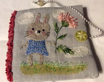 hand embroidered needlebook