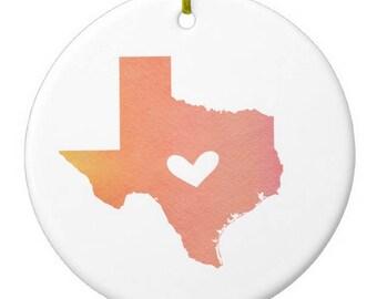 Texas Austin Christmas Ornament