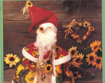 Sunflower Santa - McCall's Creates Fabric Craft Pattern Leaflet