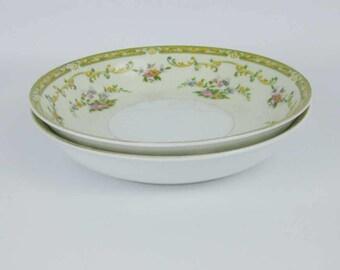 Vintage Noritake Arlene Coupe Soup Bowls (2) Circa 1930's