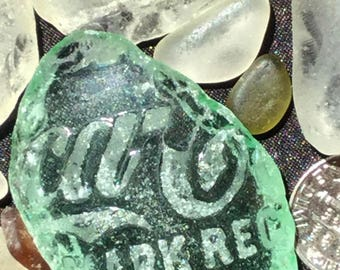 A-Sea Glass or Beach Glass of Hawaii COCA-COLA! Embossed Writing! And Cut Glass! Bulk Sea Glass! Sea Glass bulk! Seaglass! Genuine Sea glass
