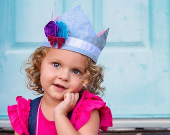 Crown PDF Sewing Pattern, Including sizes 3months-adult, Princess Tiara, Birthday Party Crown Tutorial
