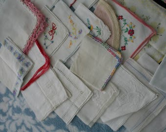 Hankies for Craft Projects or Quilts