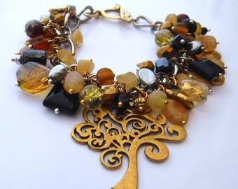 Klimt*Homage charm gemstone bracelet