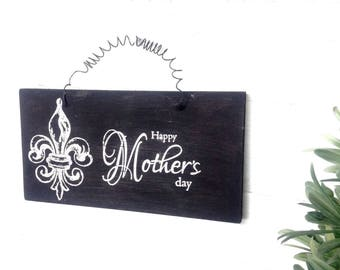 Happy Mother's Day ~ready to hang with wire ~ Make Moms day special!