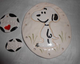 Snoopy Pine Needle Base with embellishments3 3/4'' x 4.5