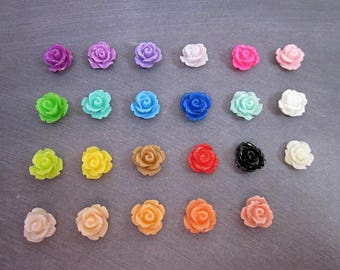 Mini Flower Set -- Small Resin Flowers -- Sample Flower Supply -- Wholesale Mini Flower Supplies -- DIY Flower Pieces -- Cabochon Multi Pack