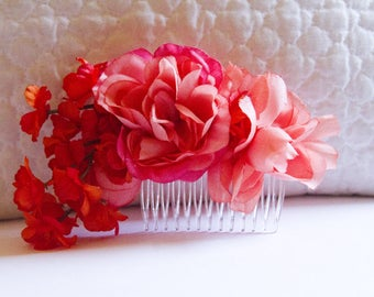 Love Language Floral Hair Comb // High-End Fashion Accessories / Luxury Hair Styling Headpiece for Women / Couture Flower Tiara Crown