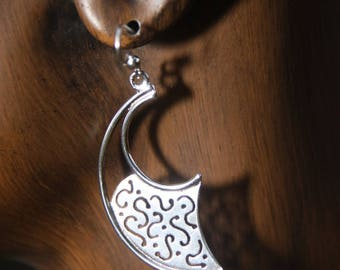 Sterling Silver Warrior style, Afrocentric earrings