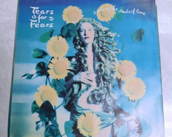 "Tears for Fears Sowing the seeds of love - Tears roll down Vintage Vinyl Record 45rpm 7"" single"