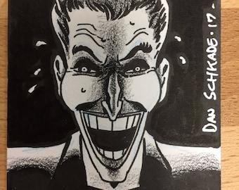 Joker sketchcard drawn by Dan Schkade.