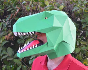 Talking T-Rex Mask - Build a Dinosaur with Moving Mouth! | Paper Mask | DIY Mask | Halloween Mask | Dinosaur Costume