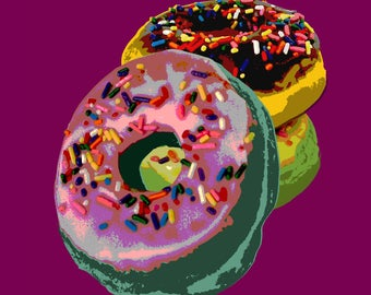 Donut Pop Art print