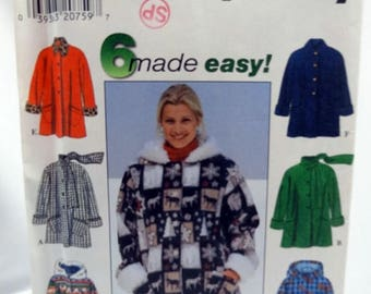 ON SALE Simplicity 7803, Misses' Coat Pattern, Sewing Pattern, Misses' Size XS, S, M - Uncut