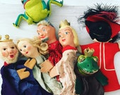 Bunch of vintage hand puppets