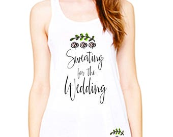 bride tank gift set, sweating for the wedding tank and socks